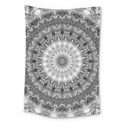 Feeling Softly Black White Mandala Large Tapestry