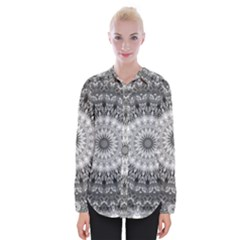 Feeling Softly Black White Mandala Womens Long Sleeve Shirt