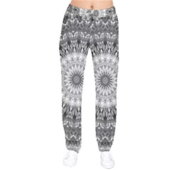 Feeling Softly Black White Mandala Drawstring Pants