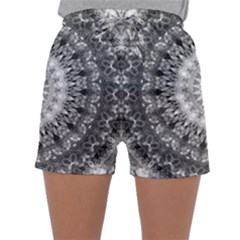 Feeling Softly Black White Mandala Sleepwear Shorts