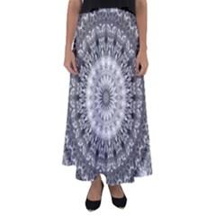 Feeling Softly Black White Mandala Flared Maxi Skirt
