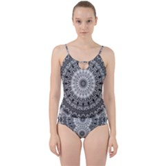 Feeling Softly Black White Mandala Cut Out Top Tankini Set