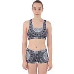 Feeling Softly Black White Mandala Work It Out Sports Bra Set