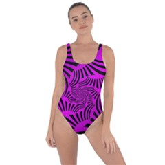 Black Spral Stripes Pink Bring Sexy Back Swimsuit