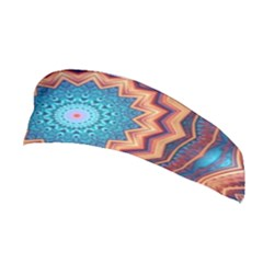 Blue Feather Mandala Stretchable Headband