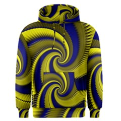 Blue Gold Dragon Spiral Men s Pullover Hoodie