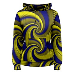 Blue Gold Dragon Spiral Women s Pullover Hoodie