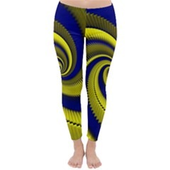 Blue Gold Dragon Spiral Classic Winter Leggings
