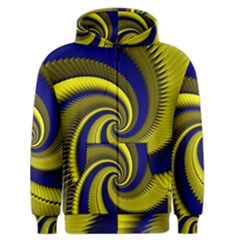 Blue Gold Dragon Spiral Men s Zipper Hoodie