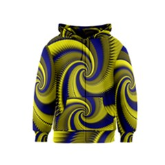 Blue Gold Dragon Spiral Kids  Zipper Hoodie