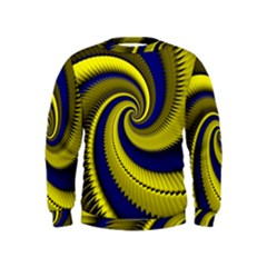 Blue Gold Dragon Spiral Kids  Sweatshirt
