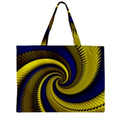 Blue Gold Dragon Spiral Zipper Mini Tote Bag