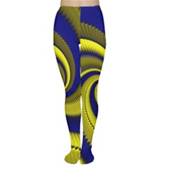 Blue Gold Dragon Spiral Women s Tights