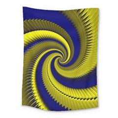 Blue Gold Dragon Spiral Medium Tapestry