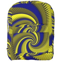 Blue Gold Dragon Spiral Full Print Backpack