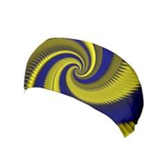 Blue Gold Dragon Spiral Yoga Headband