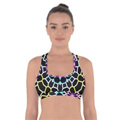 Colored Window Mandala Cross Back Sports Bra
