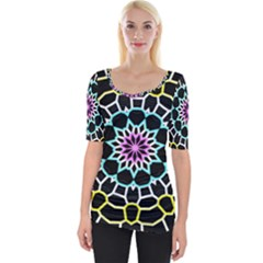 Colored Window Mandala Wide Neckline Tee