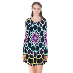 Colored Window Mandala Flare Dress
