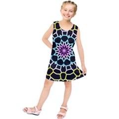 Colored Window Mandala Kids  Tunic Dress