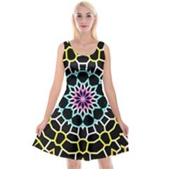 Colored Window Mandala Reversible Velvet Sleeveless Dress