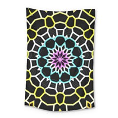 Colored Window Mandala Small Tapestry