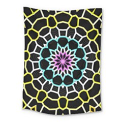Colored Window Mandala Medium Tapestry