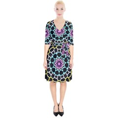 Colored Window Mandala Wrap Up Cocktail Dress