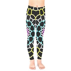 Colored Window Mandala Kids  Legging