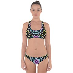Colored Window Mandala Cross Back Hipster Bikini Set