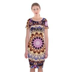 Dreamy Mandala Classic Short Sleeve Midi Dress