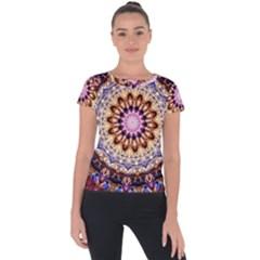 Dreamy Mandala Short Sleeve Sports Top