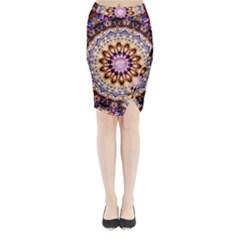 Dreamy Mandala Midi Wrap Pencil Skirt