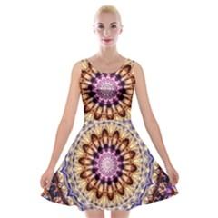 Dreamy Mandala Velvet Skater Dress