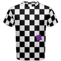 Dropout Purple Check Men s Cotton Tee