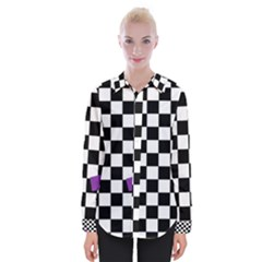 Dropout Purple Check Womens Long Sleeve Shirt