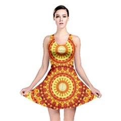 Powerful Love Mandala Reversible Skater Dress