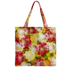 Flower Power Grocery Tote Bag