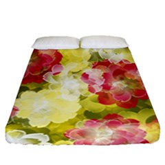Flower Power Fitted Sheet (queen Size)