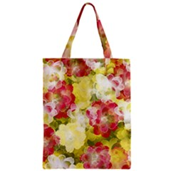 Flower Power Zipper Classic Tote Bag