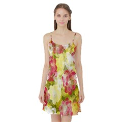 Flower Power Satin Night Slip