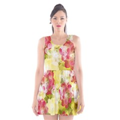 Flower Power Scoop Neck Skater Dress