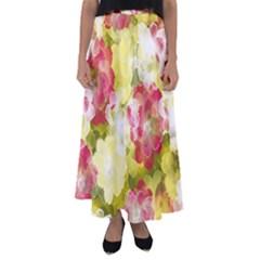 Flower Power Flared Maxi Skirt