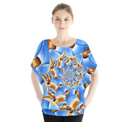 Gold Blue Bubbles Spiral Blouse