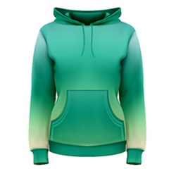 Sealife Green Gradient Women s Pullover Hoodie