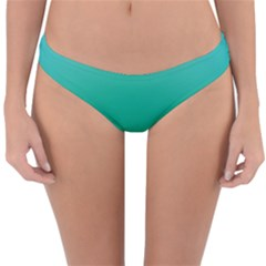 Sealife Green Gradient Reversible Hipster Bikini Bottoms