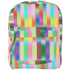 Multicolored Irritation Stripes Full Print Backpack