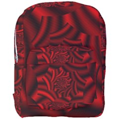 Metallic Red Rose Full Print Backpack