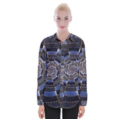 Midnight Crazy Dart Womens Long Sleeve Shirt
