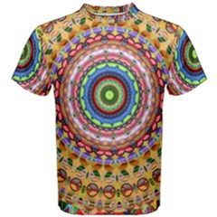 Peaceful Mandala Men s Cotton Tee
